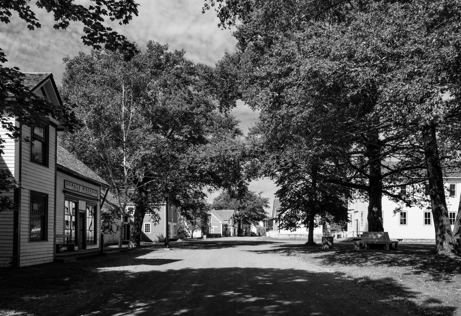Straße im Sherbrooke Village